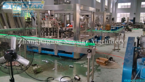 Carbonated Drink Washing Filling Seaming Machine Monoblock For Aluminium Can