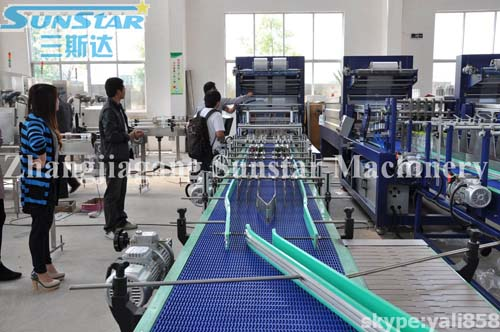 Double Push Type PE Film Shrink Wrapper Machine 40 Packages/m